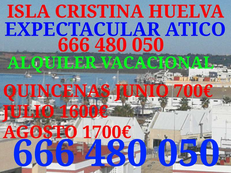 Imagen expectacular atico isla Cristina Huelva.