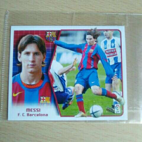 Imagen Cromo de Messi 2004-05.