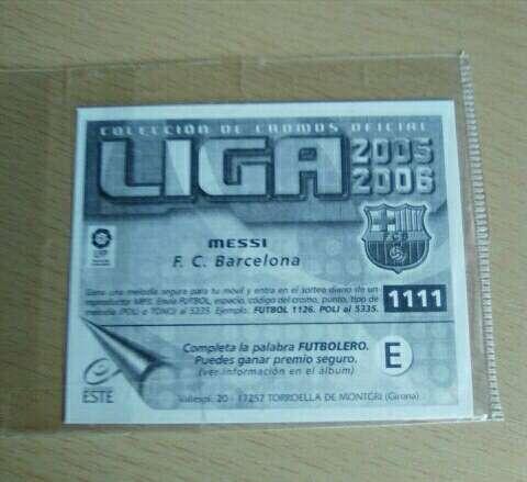 Imagen producto Cromo de Messi 2004-05.  2