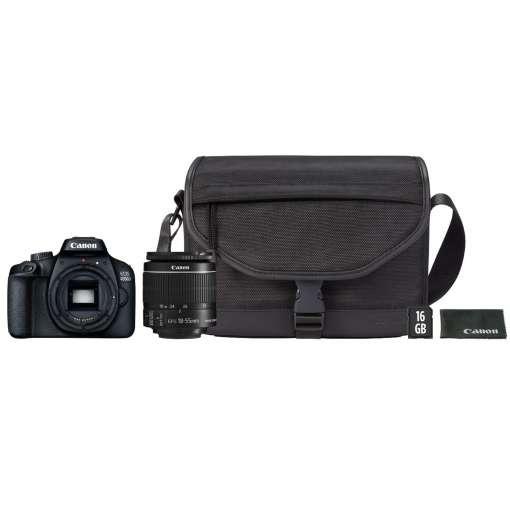 Imagen producto Cámara Réflex Canon EOS 4000D EF-S 18-55mm III con funda y SD 16GB   4