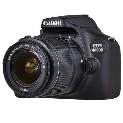 Imagen Cámara Réflex Canon EOS 4000D EF-S 18-55mm III con funda y SD 16GB