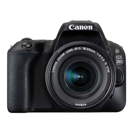 Imagen producto Canon Eos 200d + Canon Ef-s 18-55mm F/4-5.6 Is Stm Negro   1