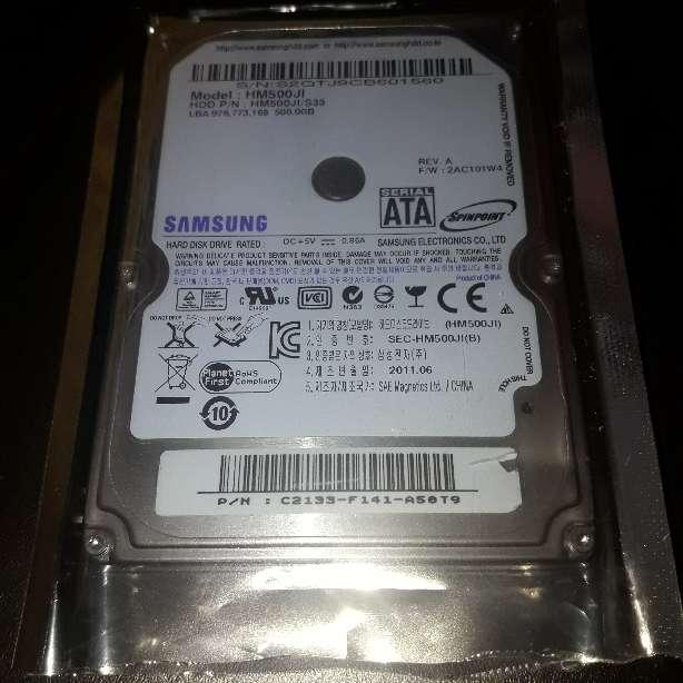 Imagen producto Disco Duro 2.5 Sata 500Gb Samsung 3