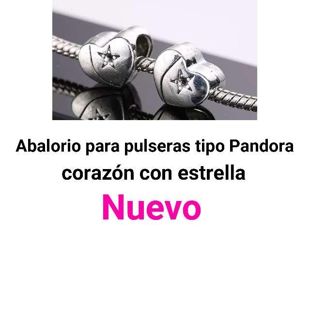 Imagen Abalorio pulsera tipo Pandora. corazón. Nuevo.