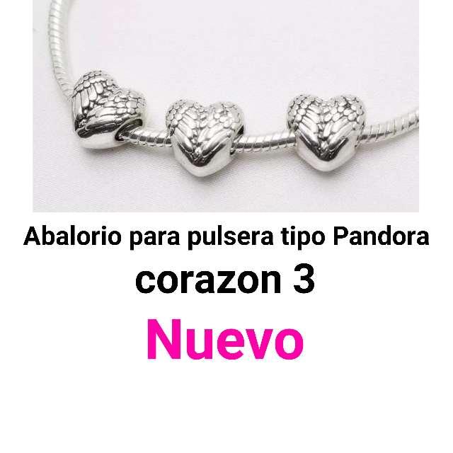 Imagen Abalorio pulsera tipo Pandora. corazón 3. nuevo.