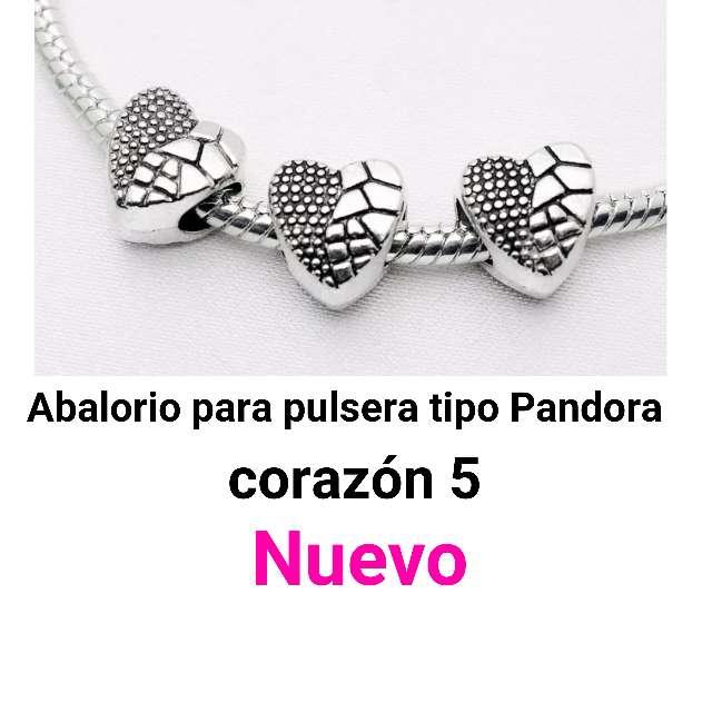 Imagen Abalorio pulsera tipo Pandora. corazón5. Nuevo.