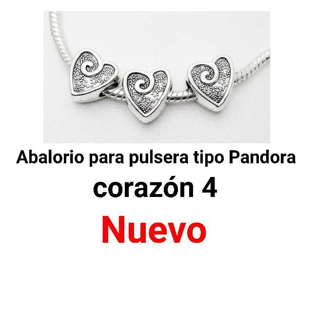 Imagen producto Abalorio pulsera tipo Pandora. corazón 4. nuevo. 1