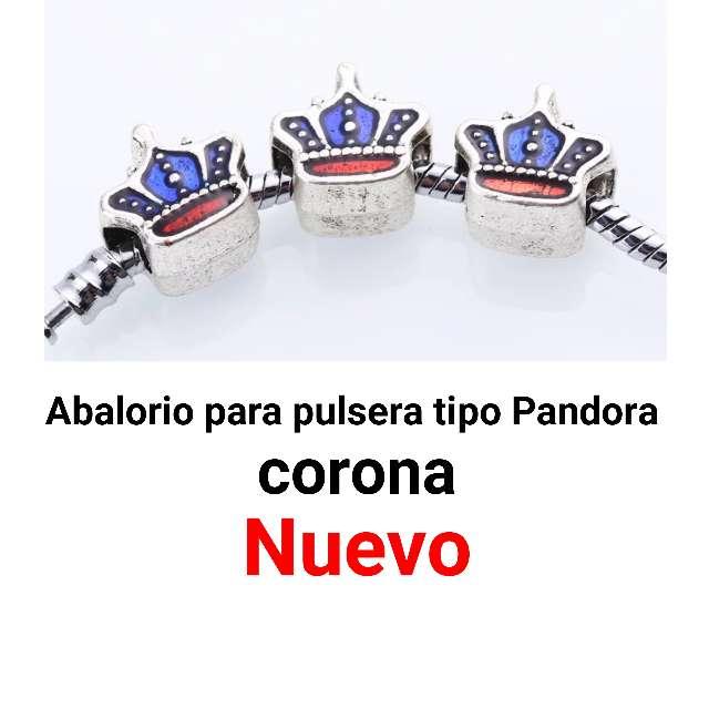 Imagen Abalorio pulsera tipo Pandora corona. Nuevo
