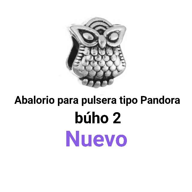 Imagen producto Abalorio pulseras tipo Pandora. búho2. Nuevo.  1