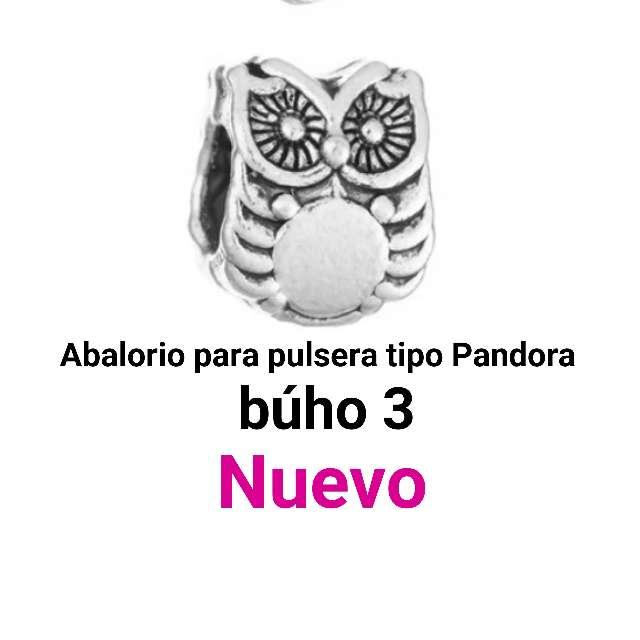 Imagen producto Abalorio pulseras tipo Pandora. búho3. Nuevo. 1
