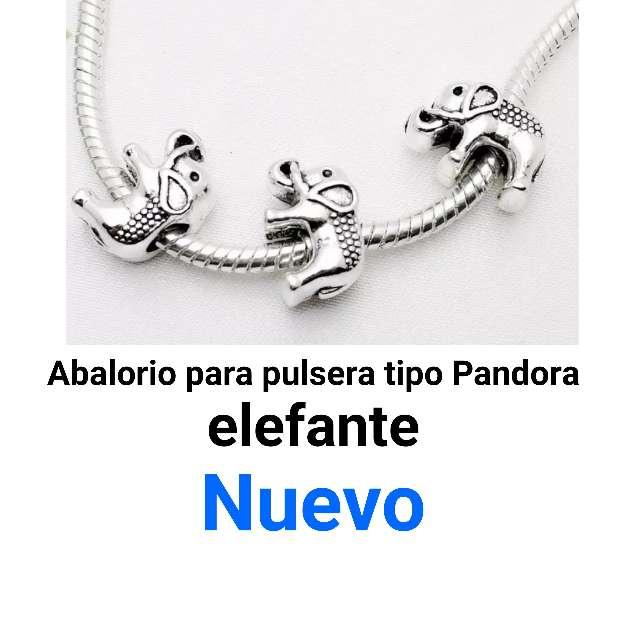 Imagen producto Elefante pulsera tipo pandora. nuevo. 1