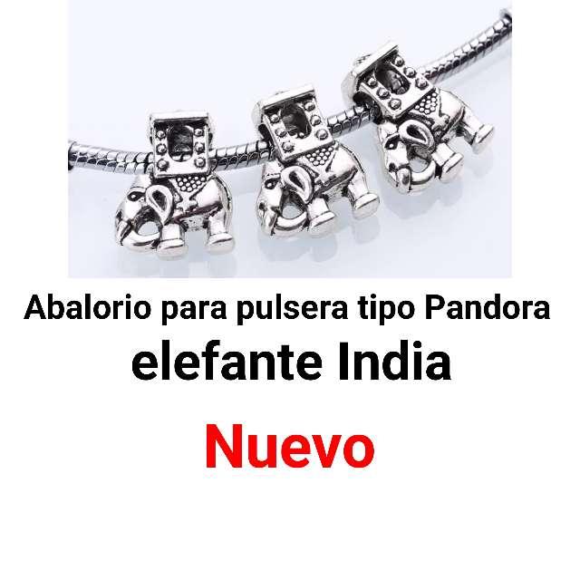 Imagen Abalorio Elefante India pulsera tipo pandora. nuevo.