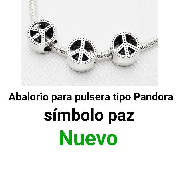 Imagen Símbolo Paz pulsera tipo pandora. nuevo.