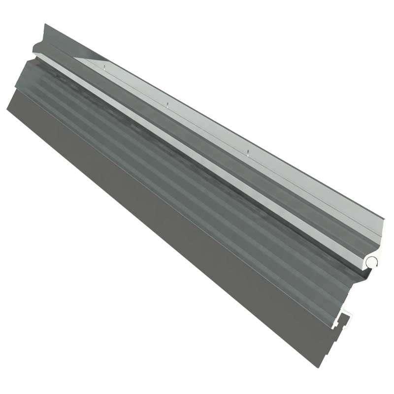 Imagen producto Guardapolvo automático 120 cm negro, aluminio natural y dorado Herralum 1