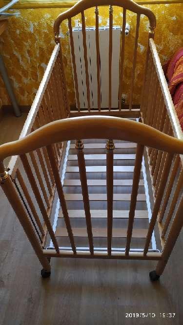 Imagen producto Cuna de madera, colchón, mama pata...  10