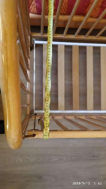 Imagen producto Cuna de madera, colchón, mama pata...  8