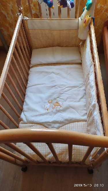 Imagen producto Cuna de madera, colchón, mama pata...  2