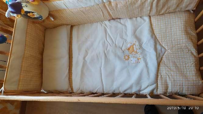 Imagen producto Cuna de madera, colchón, mama pata...  3