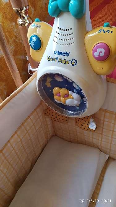 Imagen producto Cuna de madera, colchón, mama pata...  5