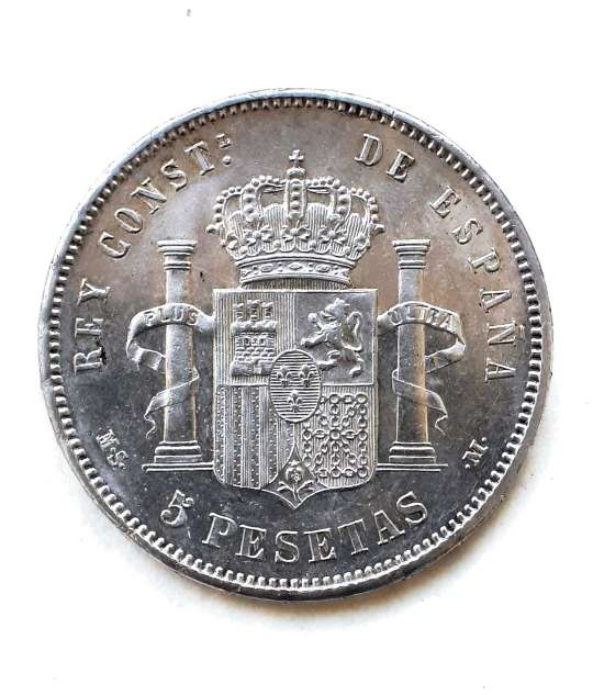 Imagen producto 5 PESETAS 1885...*18*86 SC- 2