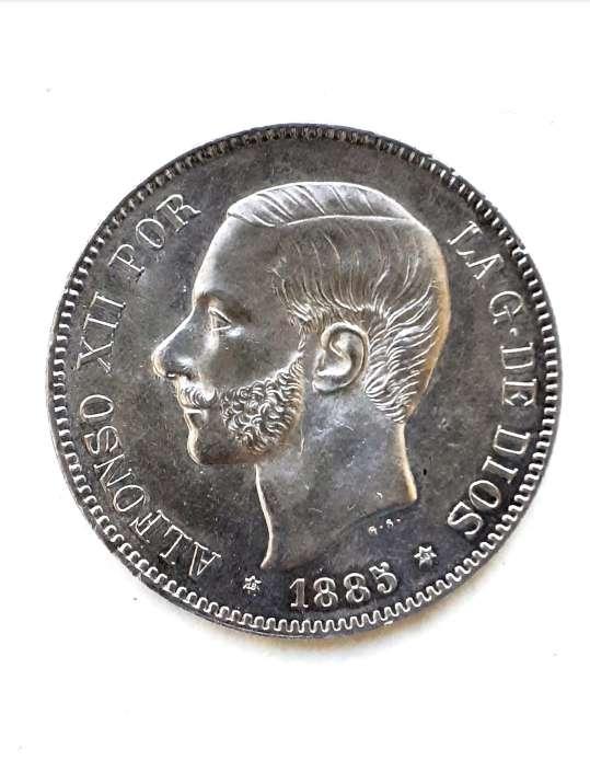 Imagen producto 5 PESETAS 1885...*18*86 SC- 1