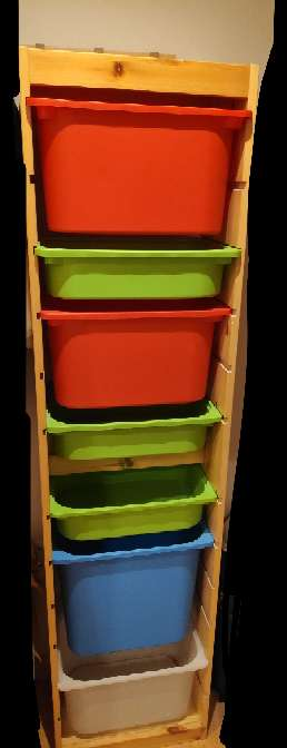 Imagen producto Estantería infantil, cajones de colores 1
