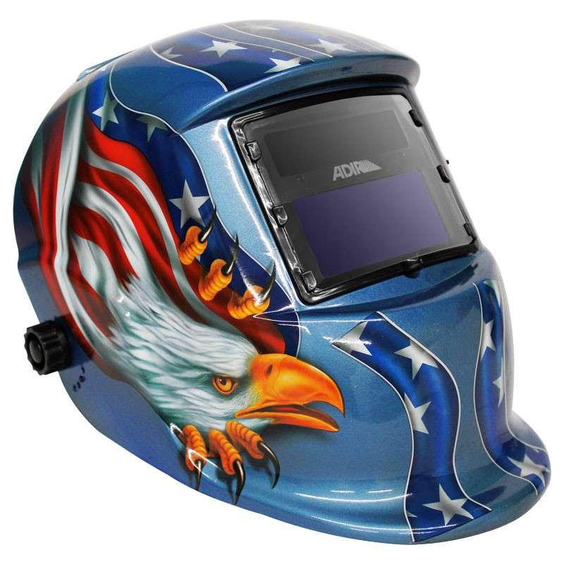 Imagen producto Careta electrónica para soldar Freedom eagle 6710; o Flaming Skull Adir 1
