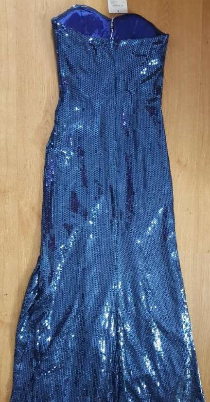 Imagen producto Vestido azul lentejuelas 38 2