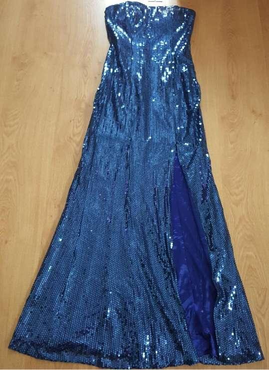 Imagen Vestido azul lentejuelas 38