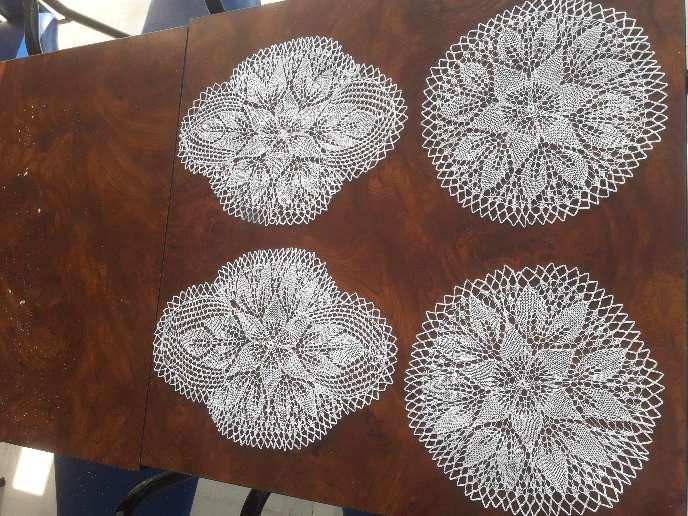 Imagen producto Pañitos artesanales,mapas y mosaico para fotos 1