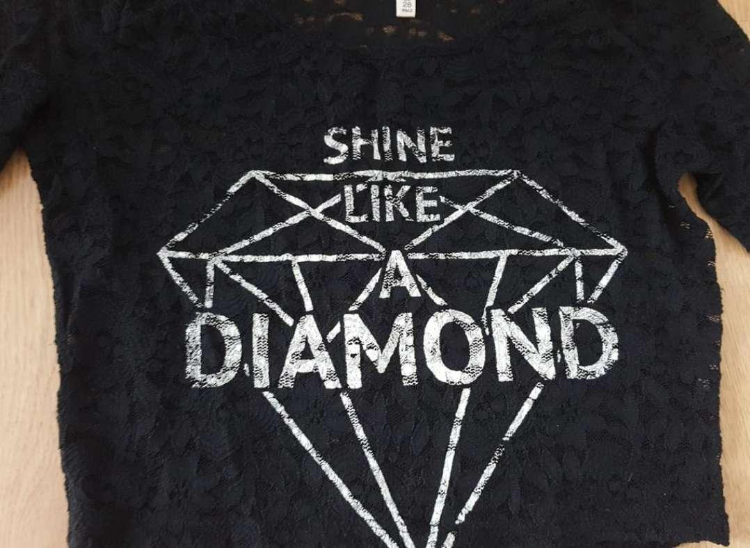 Imagen producto Camiseta encaje corta 38 2