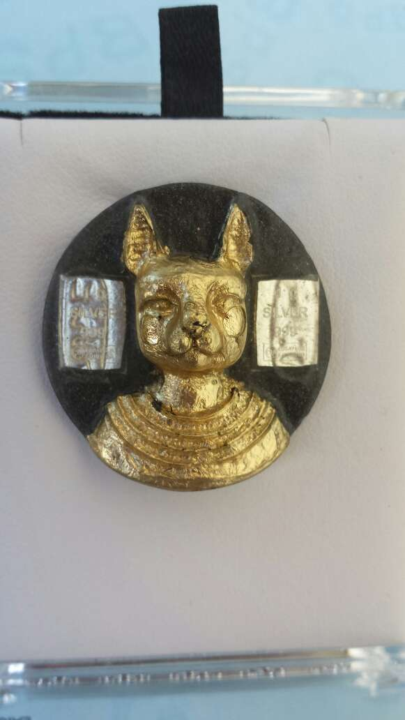 Imagen Bastet diosa y plata pura 999
