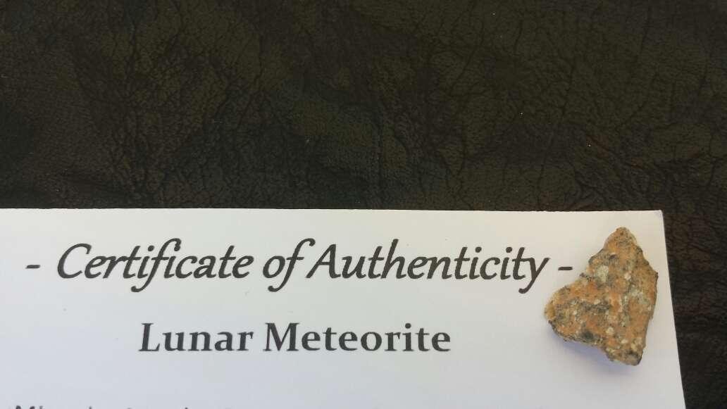 Imagen meteorito lunar colección