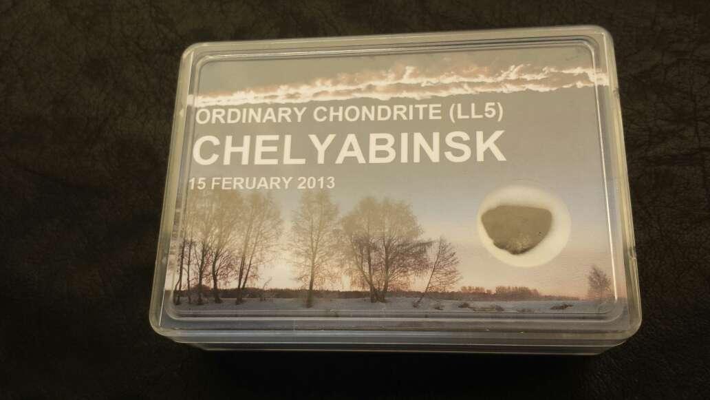Imagen meteorito en caja chelyabinsk
