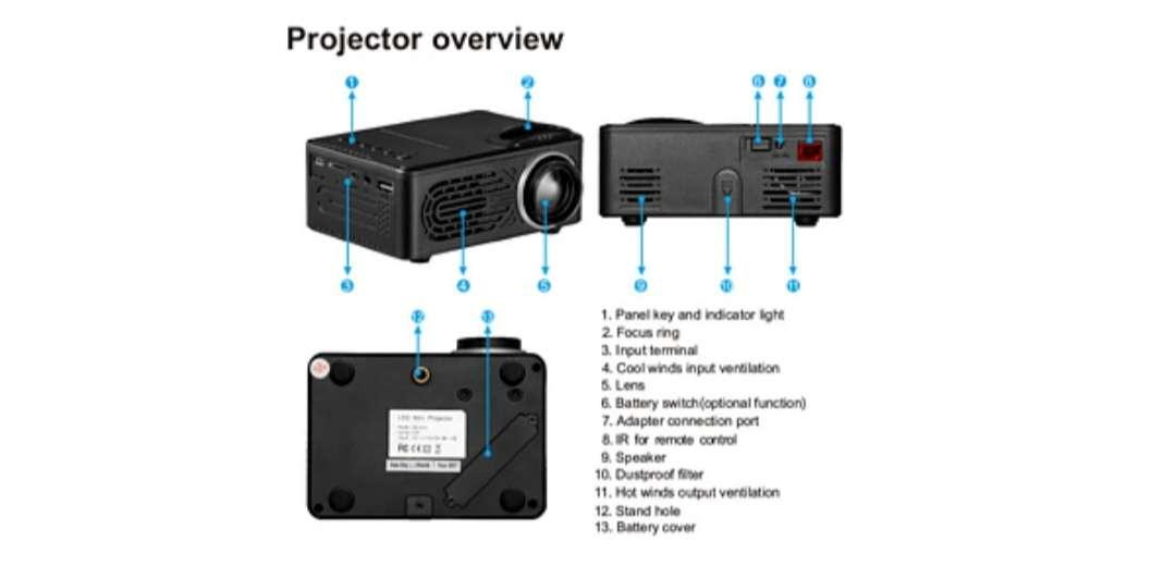 Imagen producto Mini proyector de películas, series, fotos y música  5