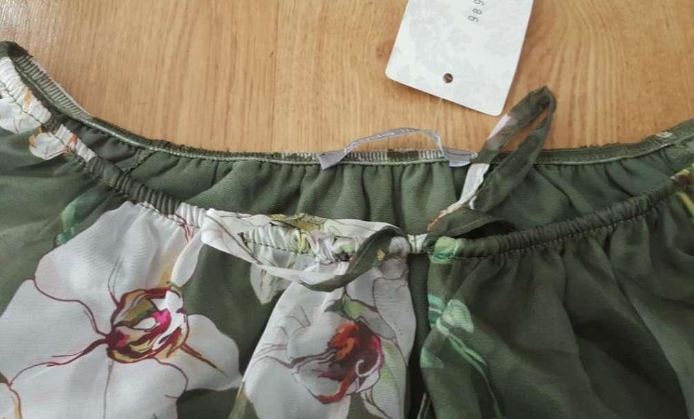 Imagen producto Blusa gasa verde talla unica 4