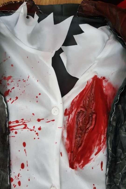 Imagen producto Disfraz colegiala zombie L 3