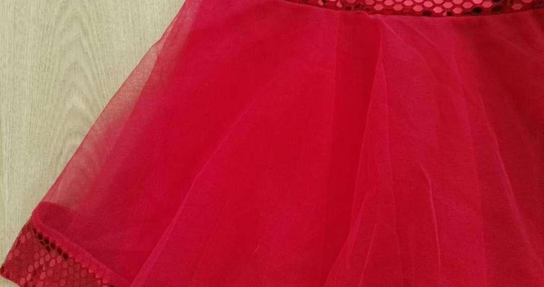 Imagen producto Vestido rojo lentejuelas M nuevo 4