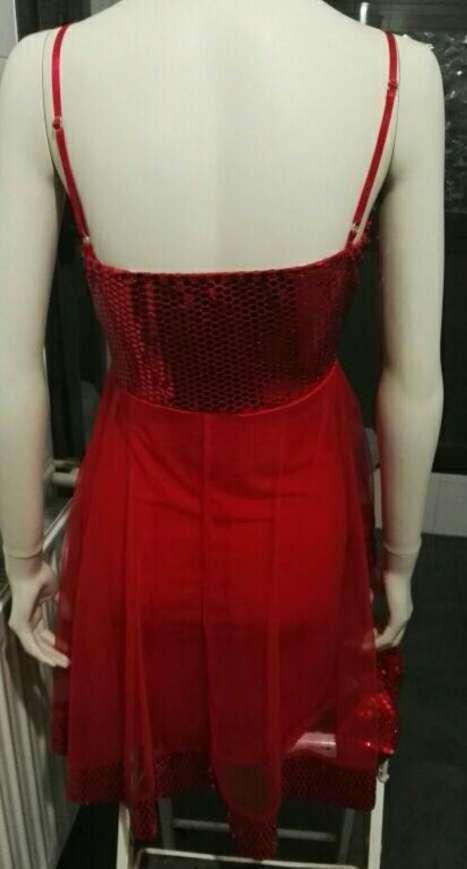 Imagen producto Vestido rojo lentejuelas M nuevo 2