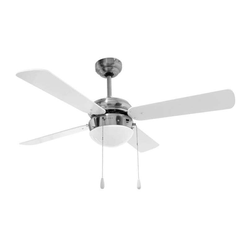 Imagen Ventilador de techo con lámpara cromo 2085 Adir