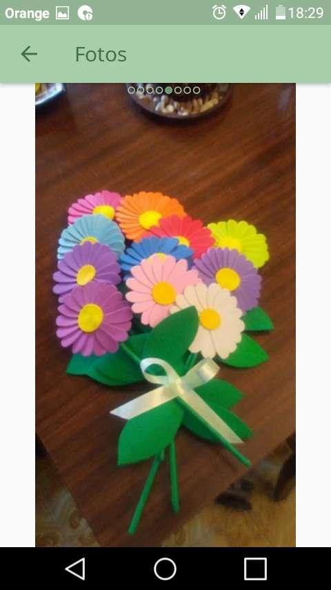Imagen Flores de goma eva