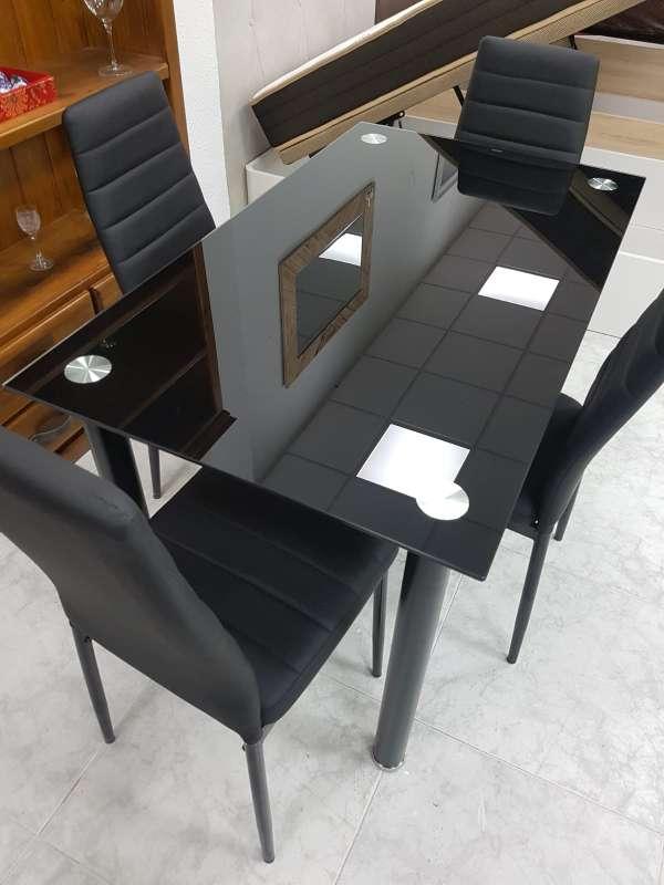 Imagen oferta en mesas nuevas cuatro o seis sillas!! blanco,negro o wengué