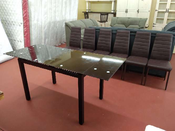 Imagen producto Oferta en mesas nuevas cuatro o seis sillas!! blanco,negro o wengué 5