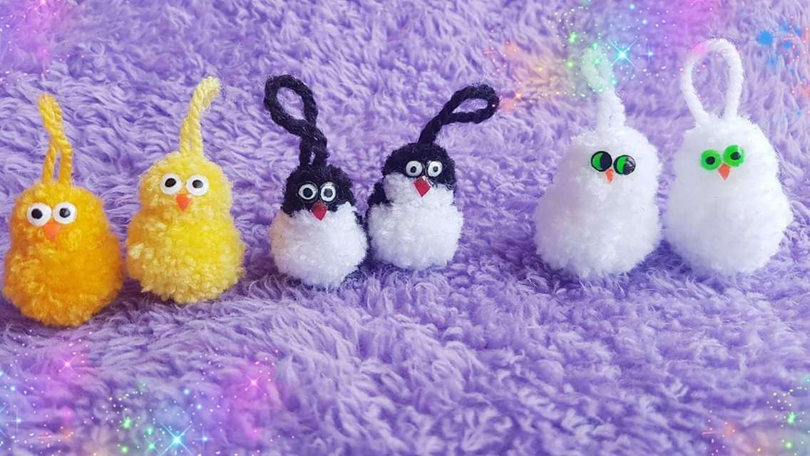 Imagen Llaveros de Pollitos, pingüinos y búhos de 4cm