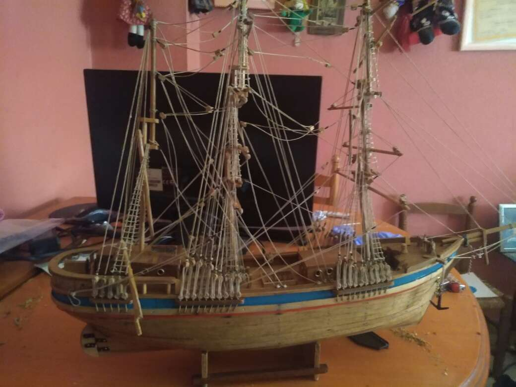 Imagen barco de madera