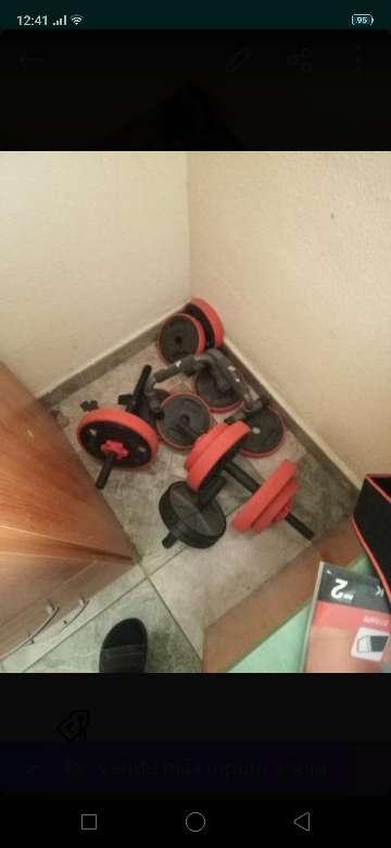 Imagen pesas para hacer en casa