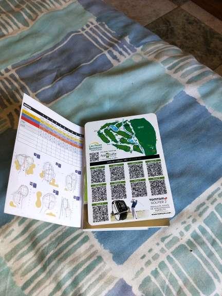 Imagen tarjetas y reglas de golf