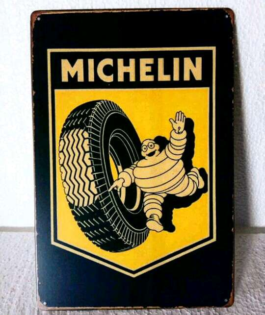 Imagen Cartel Metálico Decorativo de Michelin Vintage