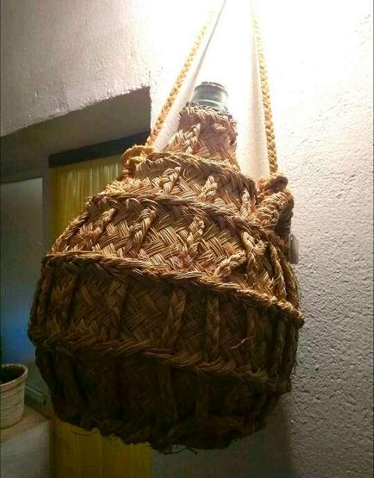 Imagen Antigua Garrafa Damajuana Forrada