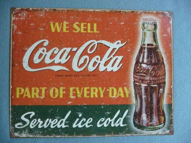 Imagen Cartel Metálico Decorativo Coca-Cola Vintage